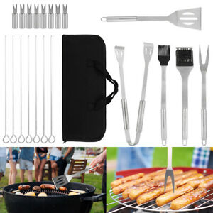 20pcs BBQ Tool Set Stainless Steel Grill Utensils Kit Accessories Barbecue USA