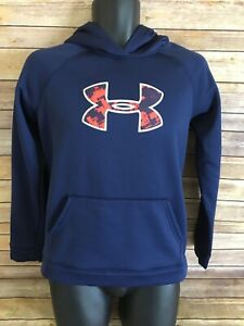 UNDER ARMOUR Hoodie Sweatshirt Size Youth XL Blue Sleeveless Cold gear Boys $16.40