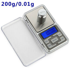 Digital Scale 200g x 0.01g Jewelry Gold Silver Coin Gram Pocket Size Herb Grain