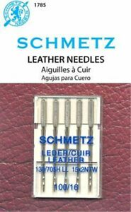 5 PACK SCHMETZ LEATHER SEWING MACHINE NEEDLES SIZE 16 110 Part# S 1785 $6.99