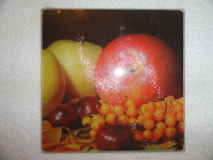 Cooking Concepts Fruit Kitchen Square Cutting Trivet Board Tempered Glass 7.75quot; $6.49