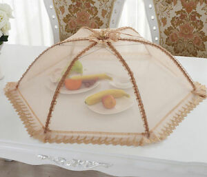 1pc Collapsible Pop-up Food Umbrella Cover Mesh Lace Tent for Outdoor Home USA