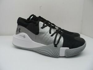 Under Armour Men's Anatomix Spawn Low Basketball Shoes Black Mod Gray 11M $74.99
