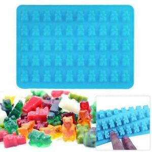 Silicone Gummy Bear Chocolate Mold Candy Maker Ice Cavity Mould Jelly Tray H9P1
