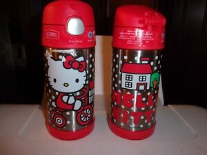 THERMOS NEW FUNtainer Hello Kitty 12oz Vacuum Insulated Water Bottle BPA Free
