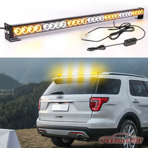 Led Amber Emergency Strobe Light Bar Traffic Advisor Flash Warning Yellow
