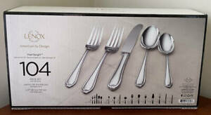Lenox 18/10 Stainless Steel 104 Piece Service for 12 Flatware Set ~ Hartleigh