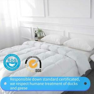White Soft All Season Goose Down Comforter Hotel Lightweight Duvets Inset US $40.99