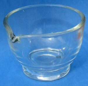 Vtg Clear Glass Mortar 32 oz Made in USA Mixing Bowl EUC
