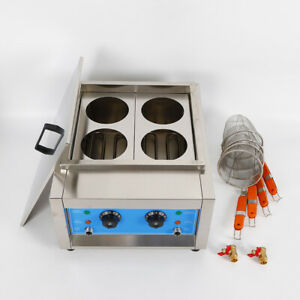 Commercial 4Holes Noodle Cooking Machine Electric Pasta Cooker w/Basket 4KW 110V