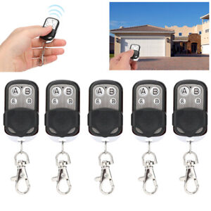 Universal Garage Door Cloning Remote Control Key Chain 433mhz Gate Opener w/LED