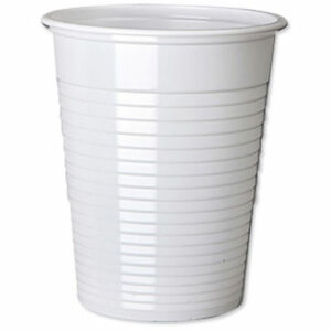 White Clear Disposable Plastic Cups or Drinking Glass For Water Coolers Party