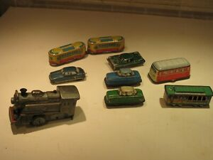 9 NINE VINTAGE TIN LITHO TOYS BARGAIN ESTATE COLLECTION