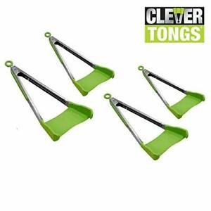 Clever Tongs 2 In 1 Kitchen Spatula & Tongs Non-Stick, Heat Resistant, Stainless
