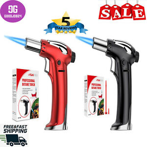 Butane Torch Refillable Kitchen Blow Torch Lighter Culinary Cooking Torch with
