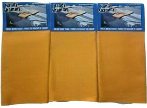 Handy Shammy Reusable 3 Pack Super Absorbent Cleaning Microfiber towel Brand New