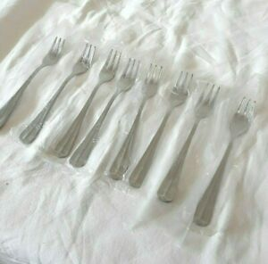 Set 8 International Stainless Flatware Gran Royal Cocktail Forks NEW in Sleeves