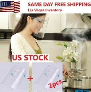 NEW 2 sets Anti Oil Splash Clear Mask Face Shield Cover Kitchen Cooking Shield