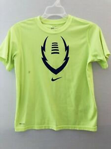 Nike Dri Fit Boys T Shirt Sz M Short Sleeve Lime Green With Swoosh Preowned $7.00
