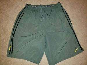 Nike Athletic Shorts Mens Adult Extra Large XL Green Run Running Lined Pockets $5.50