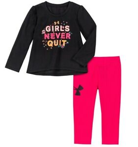 Nwt Girls Under Armour Outfit Clothes Shirt Pants Lot Size 24 Months $24.99