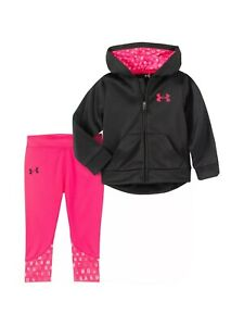 Nwt Baby Girl Size 12 Months Under Armour Outfit Clothes Hoodie Jacket Pants Lot $27.99