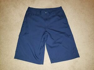 Under Armour Casual Shorts Boys Youth Large YLG L Loose Navy Blue Dress Golf $16.99