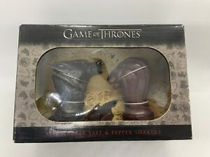 Game of Thrones Stark and Lannister Map Marker Salt and Pepper Shakers Sealed