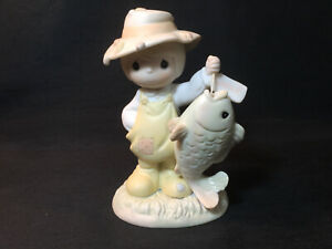 1997 Precious Moments * You Are My Once In A Lifetime * Fishing Figurine 531030