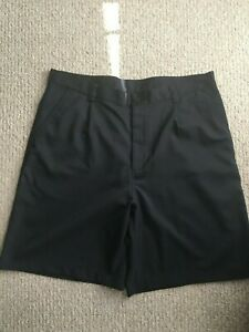 Under Armour Mens Solid Black Pleated Golf Dress Shorts Size 38 EUC $7.99