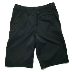 Under Armour Golf Casual Shorts Boys Youth size 14 Loose Fit Black $14.95
