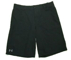 Under Armour Youth Boys XL Heatgear Golf Shorts Loose Fit Black Color $16.95