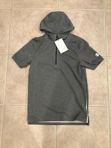 🔥RARE $90 NWT UNDER ARMOUR MENS RECOVERY SHORT SLEEVE 1 2 ZIP HOODIE SMALL GRAY $39.95