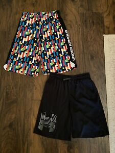 boys under armour shorts large lot Of Two Euc $11.27
