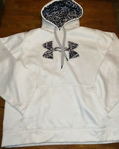 UNDER ARMOUR LOOSE FIT HOODIE SWEATSHIRT White Men's Size Large $5.30