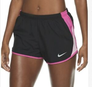 NWT Women's Nike Tempo Dri Fit Running Athletic Shorts XXL Black Pink 849394 062 $17.99