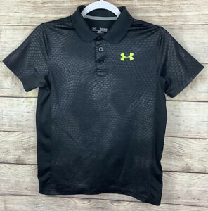 Under Armour Polo Shirt Boys Size Youth Large YLG Black $10.00