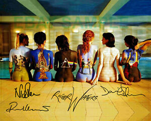 NEW PINK FLOYD 8x10 GLOSS REPRINT THE BACK CATALOG NAKED BODYPAINTED GIRLS