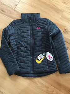 Womens Under Armour Coldgear Reactor Fitted Jacket S small $200 Gray Pink $79.99