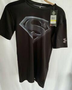 NWT NEW Mens Under Armour UA Superman Logo Compression T Shirt MD Medium M $44 $18.00