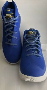 Under Armour Mens SZ 10 Curry 3Zero Team Royal Blue Basketball Shoes $49.95