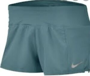 NIKE Women's Crew Running Shorts Green SIZE XL NWT orig Price $35 $18.00