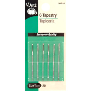Dritz Tapestry Hand Sewing Needles Large Eye Blunt Point Size 20 6 Pack D56T 20 $6.99