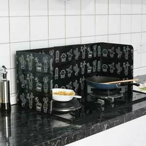 Folding Kitchen Cooking Oil Splash Screen Cover Anti Guard Shield Stove Q8W6