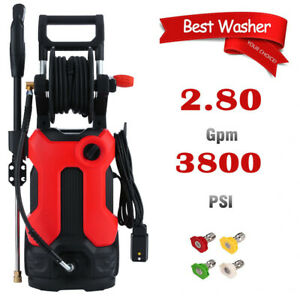 3800PSI 2.8GPM Electric Pressure Washer High Power Cold Water Cleaner Machine  $135.99