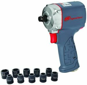 Ingersoll Rand 35MAXKS 1 2quot; Ultra Compact Impact Wrench Kit with Sockets $136.99