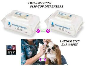 200 ct Dispenser Top Performance ProEar EAR CLEANSING WIPES DOG CATREDUCE ODOR $30.59