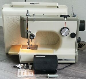 VTG Sears Kenmore Rose Case Portable Sewing Machine 158 10302 Works Clean $284.95