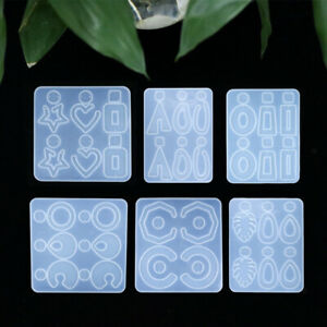 Silicone Earring Molds for Resin Casting Jewelry Making DIY Crafts