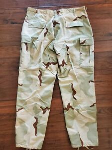 US. MILITARY ISSUEDESERT CAMOUFLAGE PANTSTROUSERS Large Regular